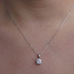 J&LBIJOUX Jewelry - S925 April (clear) birthstone necklace
